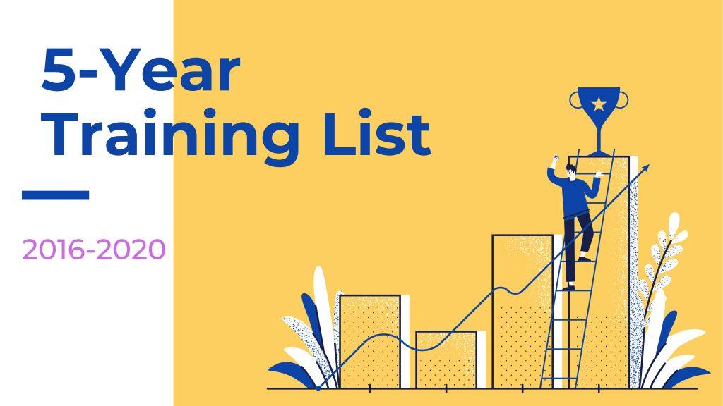 5-year training list
